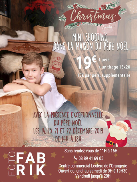 shooting photo père noël